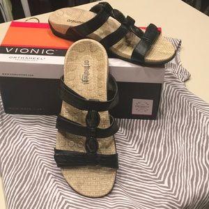 Black Jeweled Vionic Sandals